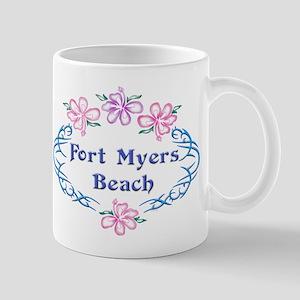 Fort Myers Beach: Flower Oval Mug