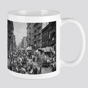 New York, Market on Mulberry Street - Vintage Mugs