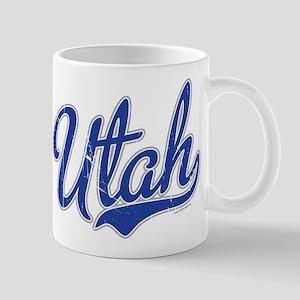 Utah State Script Font Vintage Mugs