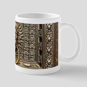Doorknocker Lion Brass 11 oz Ceramic Mug