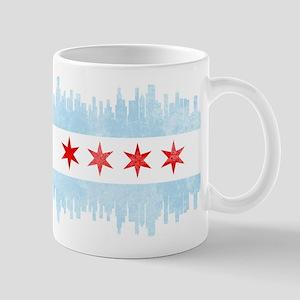 Chicago Skyline Flag Mugs