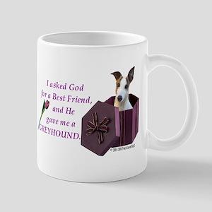 Greyhound (White & Fawn) Mug