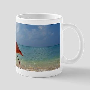 Flamingo On The Beach Mugs