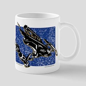 Graphic Snowmobiler in Blue Mug