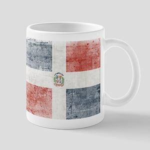 Dominican Republic Distressed Flag Mugs