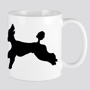 Standard Poodle Running Mugs