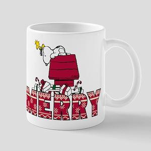 Snoopy Merry 11 oz Ceramic Mug