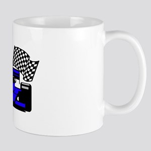 ROYAL BLUE RACE CAR Mug