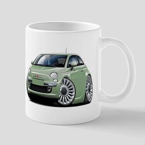 Fiat 500 Lt. Green Car Mug
