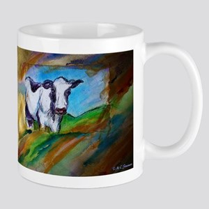 Colorful, Dairy, Cow, Mug