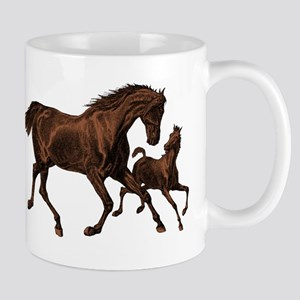 Chestnut Mare and Foal Mug