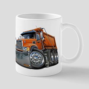 Mack Dump Truck Orange Mug