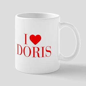 I love DORIS-Bau red 500 Mugs