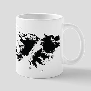Falkland Islands Silhouette Mugs