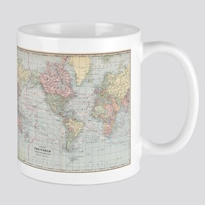 Vintage World Map (1901) Mugs
