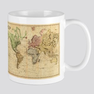 Vintage Map of The Worl Stainless Steel Trave Mugs