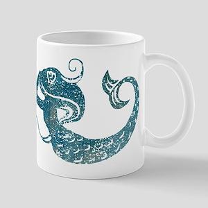 Worn Mermaid Graphic Mug