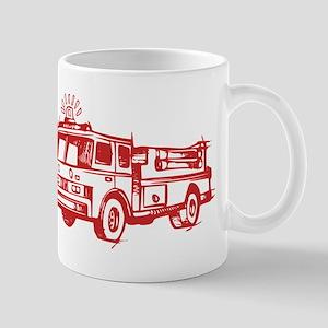 Red Fire Truck Mugs