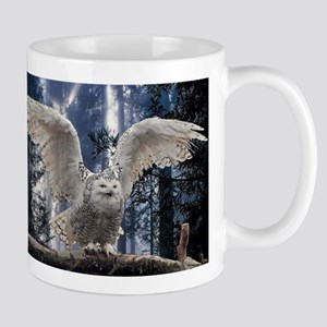Woody Snow Owl Mug
