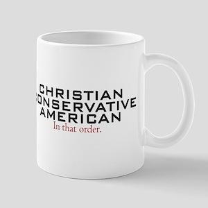Christian Conservative American Mug