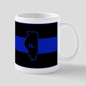 Thin Blue Line Illinois Mug