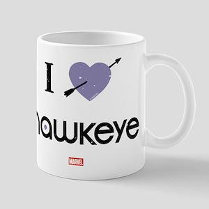 I Heart Hawkeye Purple Mug