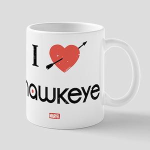 I Heart Hawkeye Red Mug