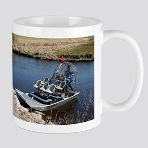 Florida swamp airboat 2 Mugs