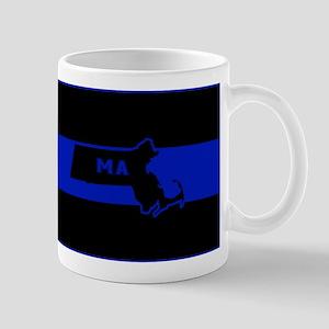 Thin Blue Line - Massachusetts Mugs
