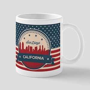 Retro San Diego Skyline Mugs