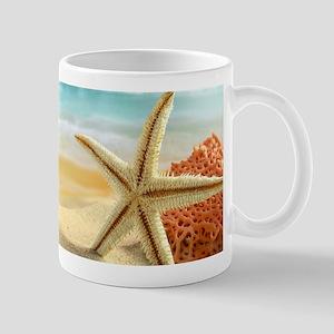 Starfish on Beach Mugs