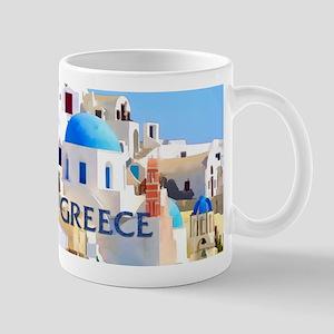 Blinding White Buildings in Greece Mugs