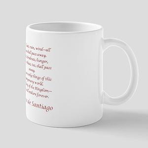 Camino Poem Red with Cross Mug