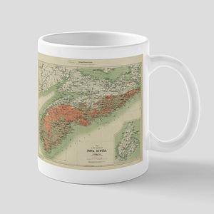 Vintage Geological Map of Nova Scotia (1906) Mugs