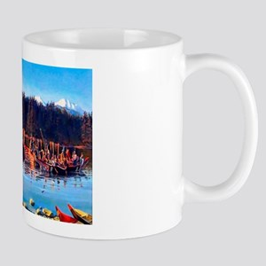 Tlingit Canoes Mug Mugs