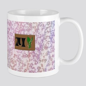 monogram M with lily of the valley Mug