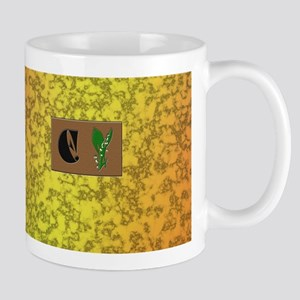 monogram E with lily of the valley Mug