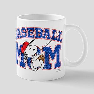 Snoopy Baseball Mom Mugs