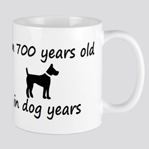 100 dog years black dog 2 Mugs