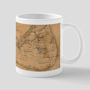 Vintage Map of Nantucket (1869) Mugs