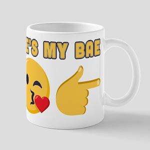 Emoji He's My Bae 11 oz Ceramic Mug