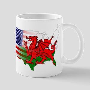 American Welsh Map Mug