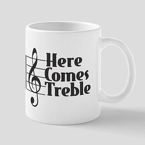 Here Comes Treble - Black Mugs