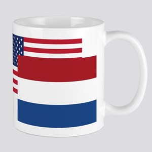 American And Dutch Flag Mugs