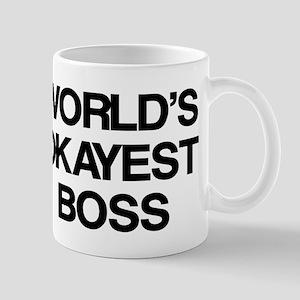 World's Okayest Boss Mug