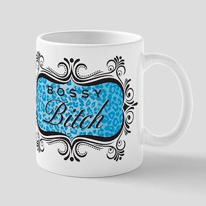 Blue Bossy Bitch Mug