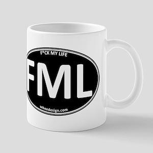 FML Black Oval - F*ck My Life Mug