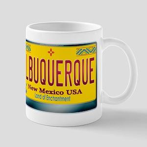 """""""ALBUQUERQUE"""" New Mexico License Plate Mug"""