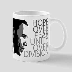 Obama - Hope Over Division - Grey Mug