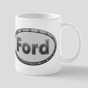 Ford Metal Oval Mugs